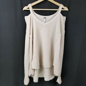 Free People Womens Sweater Size XS Cream Moonshine